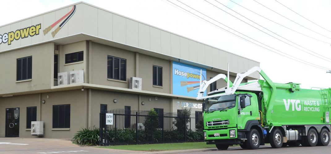 VTG Truck Collecting waste at Hosepower